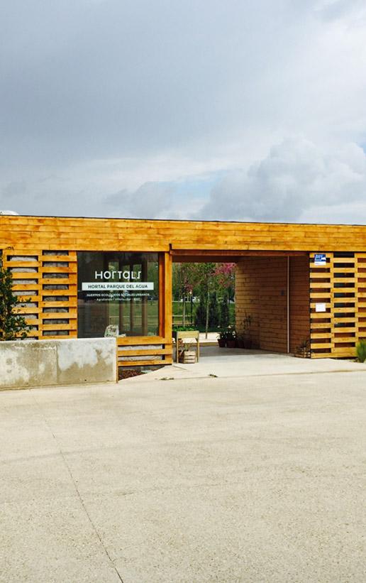 Obras. Arquitectura. Portada. Edificio Huertos Urbanos Ecologicos HORTALS Parque del Agua Zaragoza Carlos Martin La Moneda 05