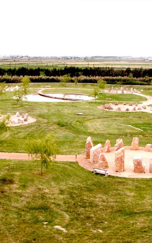 Obras. Urbanismo. Jardin de Rocas. La Alfranca 2. Geometria Sagrada. Carlos Martin La Moneda
