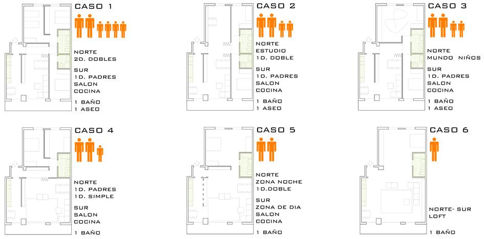 Obras. 02 P12. 7 Esquema viviendas. Valdespartera. Carlos Martin La Moneda
